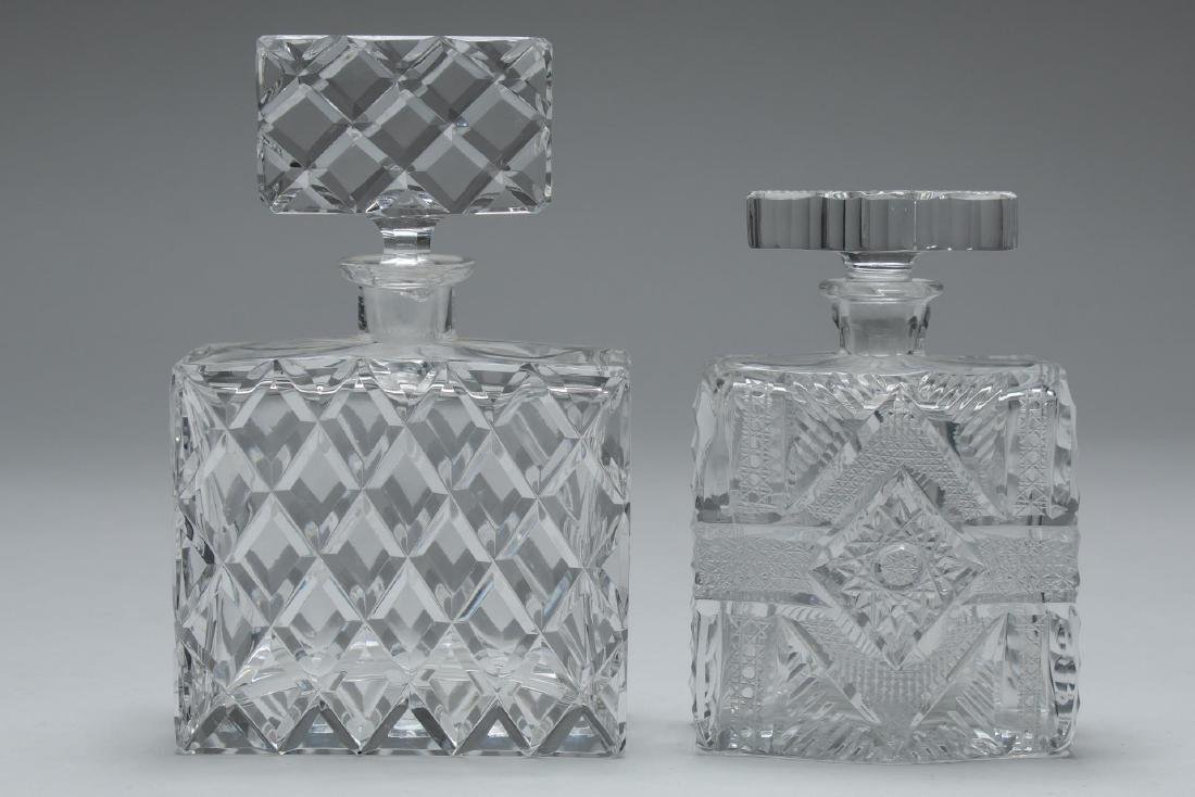 Cut Glass Dresser Bottles, 2 Vintage