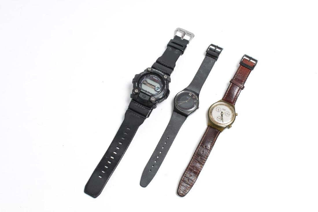 Casio G-Shock & Swatch Watches, Group of 3