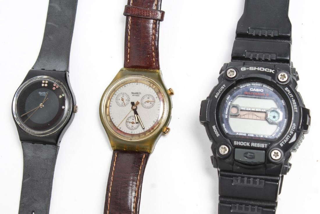 Casio G-Shock & Swatch Watches, Group of 3 - 2