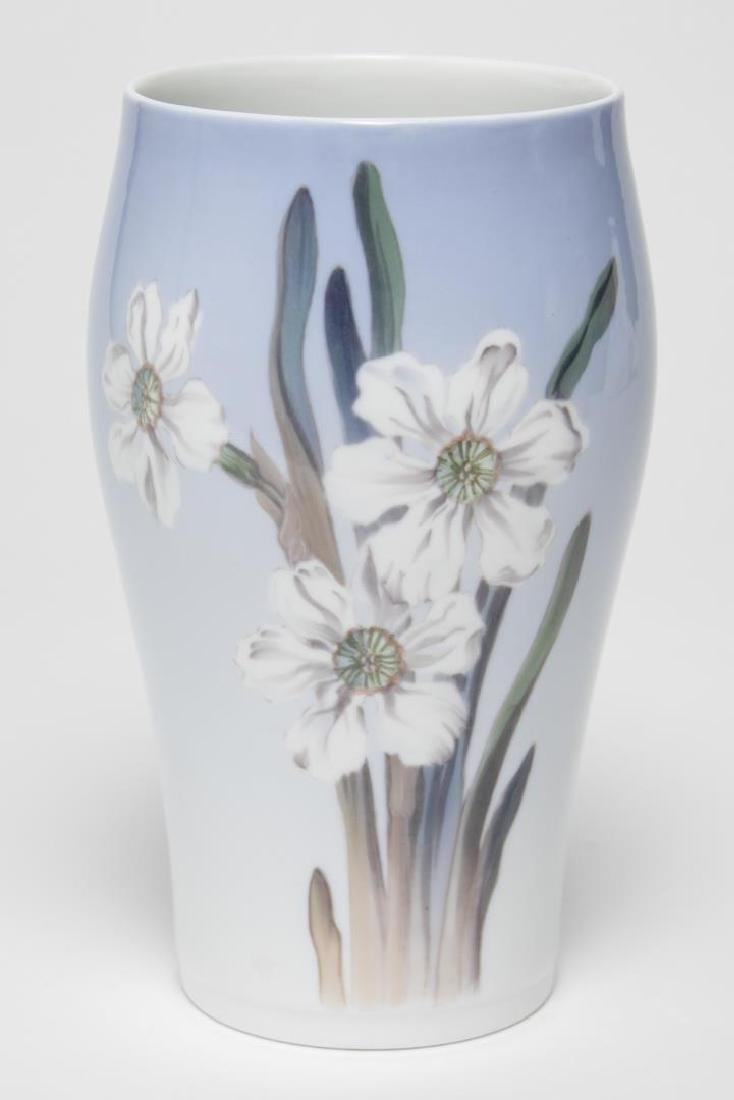 "Royal Copenhagen Porcelain Vase, ""White Narcissus"""