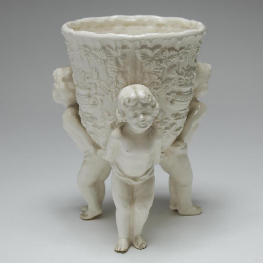 English & French White Porcelain Vases & Beaker - 3