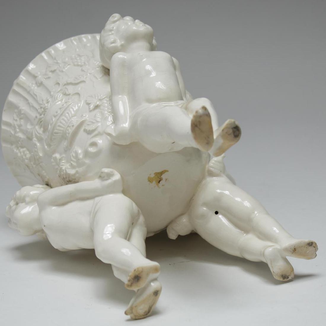 English & French White Porcelain Vases & Beaker - 4