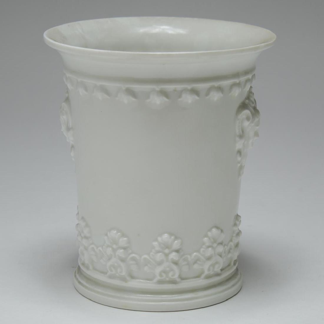 English & French White Porcelain Vases & Beaker - 5
