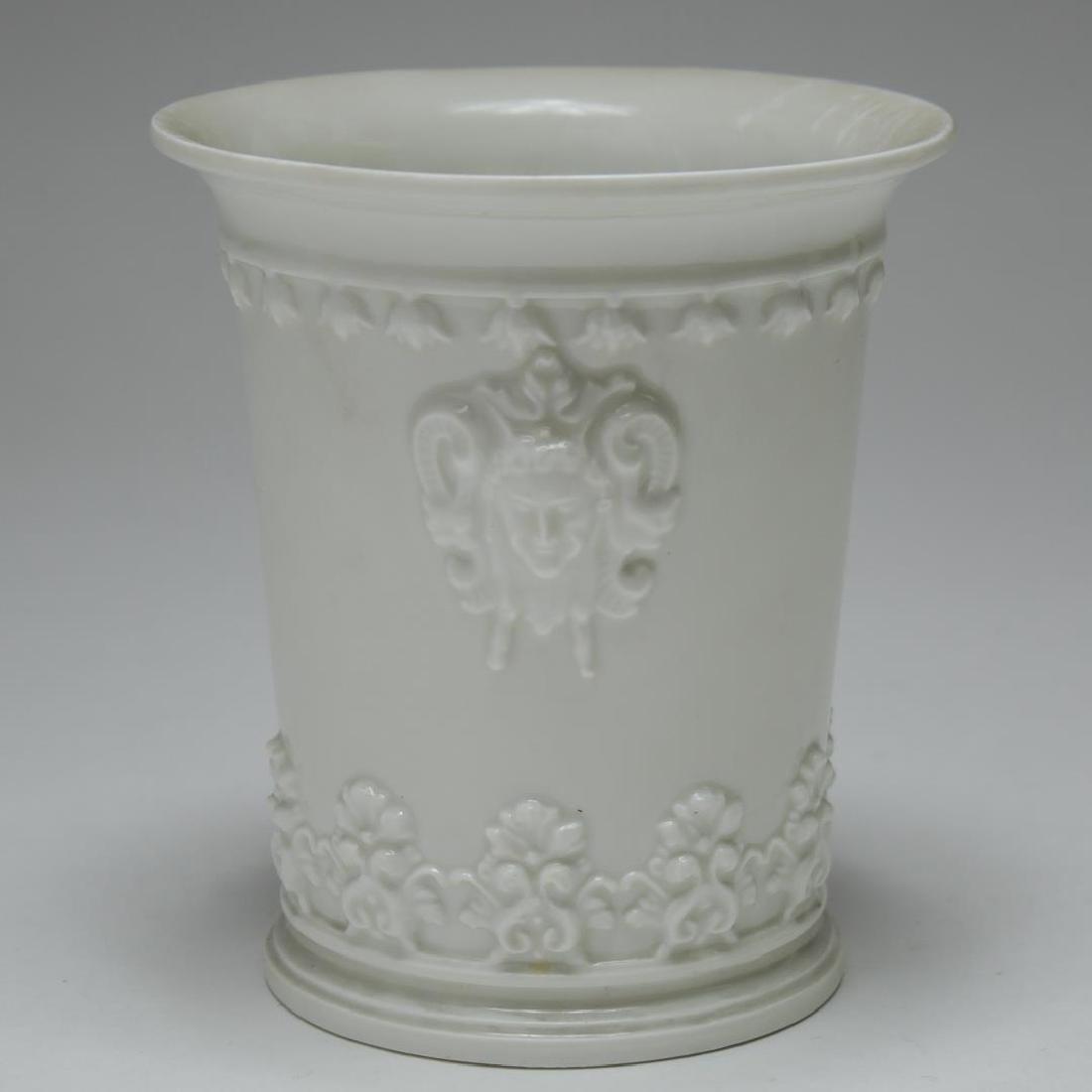 English & French White Porcelain Vases & Beaker - 6