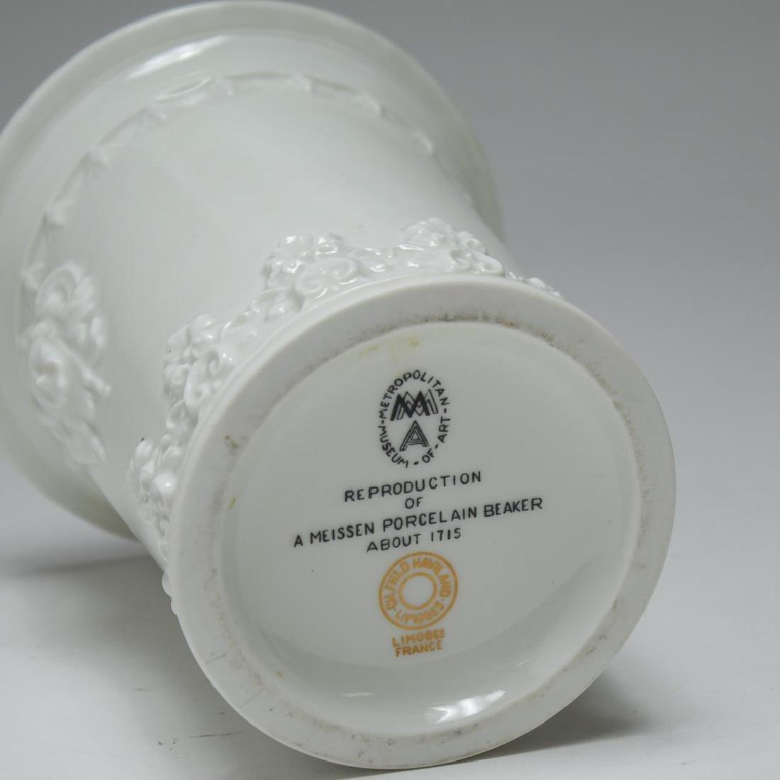 English & French White Porcelain Vases & Beaker - 7