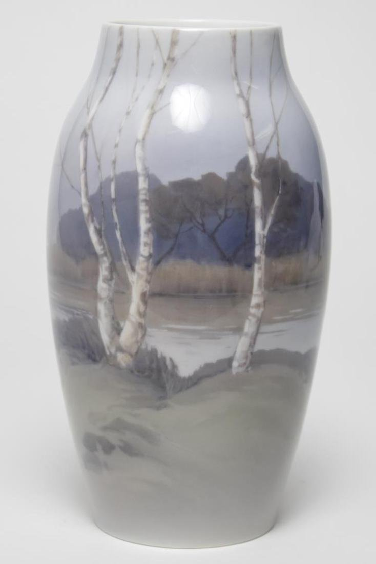 "Bing & Grondahl ""Birch Trees"" Porcelain Vase"