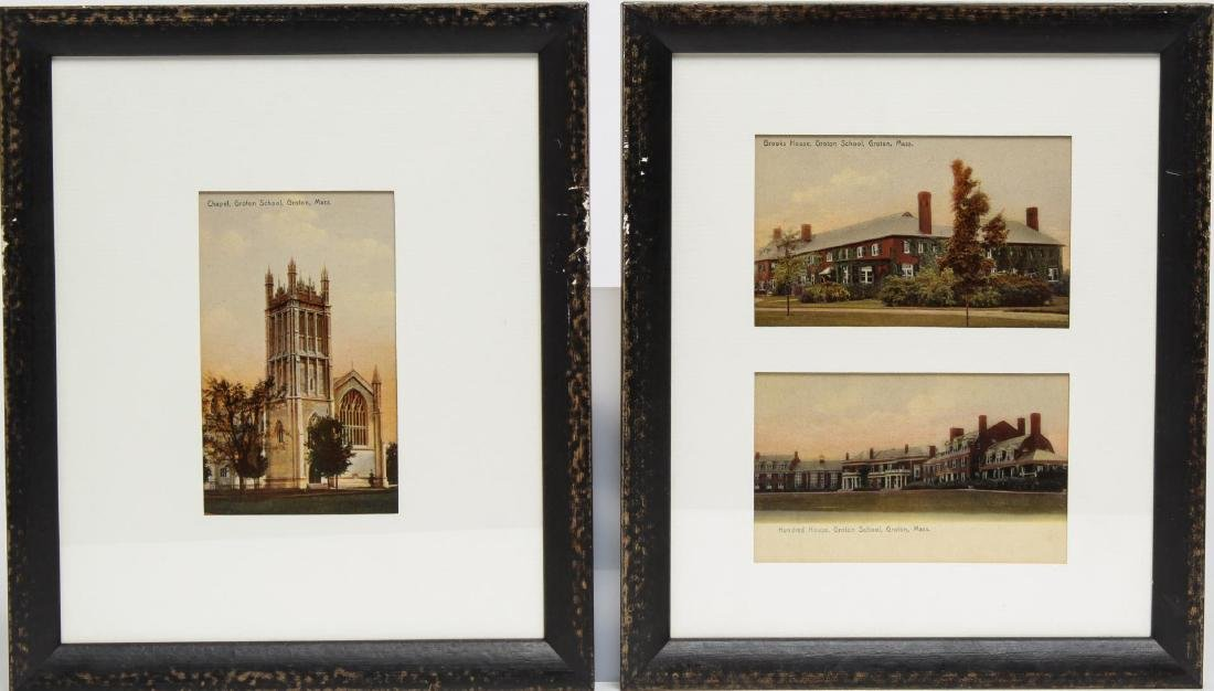 Groton School Antique Postcards, 3 in Frames