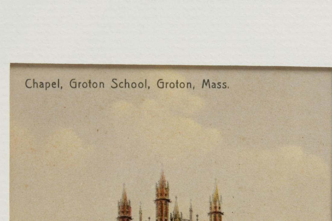 Groton School Antique Postcards, 3 in Frames - 3