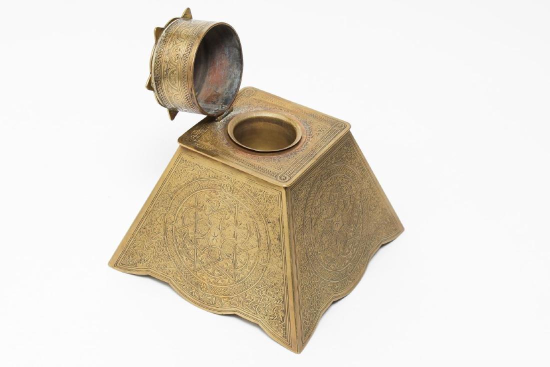 Victorian Brass Antique Inkwells, 3 - 3