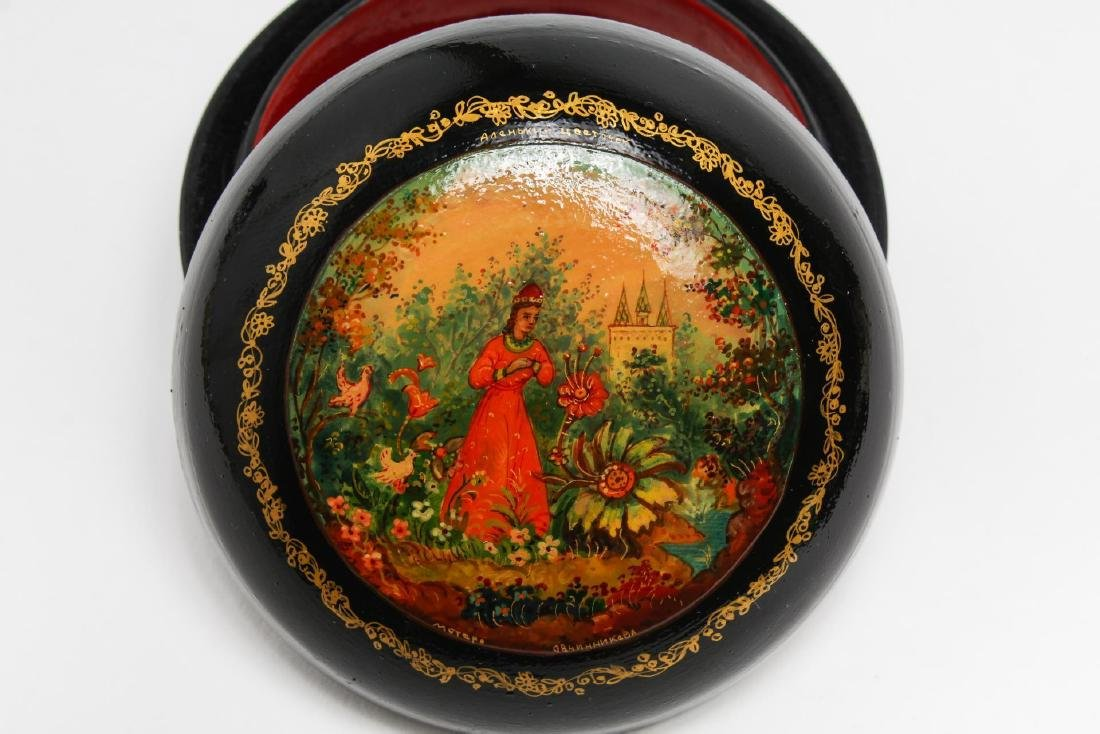 Russian Lacquer Trinket Boxes, 3 - 4