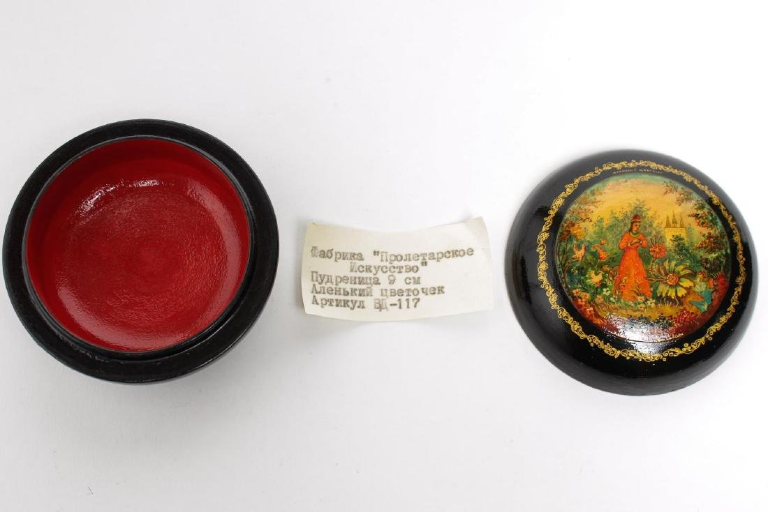 Russian Lacquer Trinket Boxes, 3 - 5