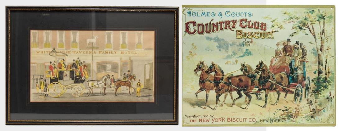 19th Century Coaching Images, Print & Enamel Sign