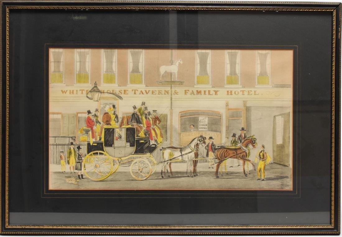 19th Century Coaching Images, Print & Enamel Sign - 2