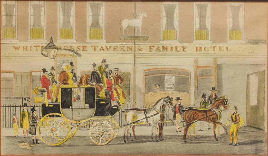 19th Century Coaching Images, Print & Enamel Sign - 3