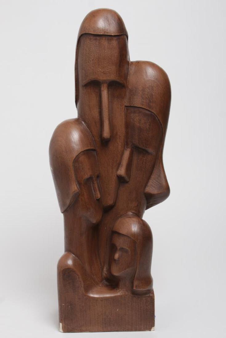Mid-Century Faux-Bois Sculpture Signed Smilow