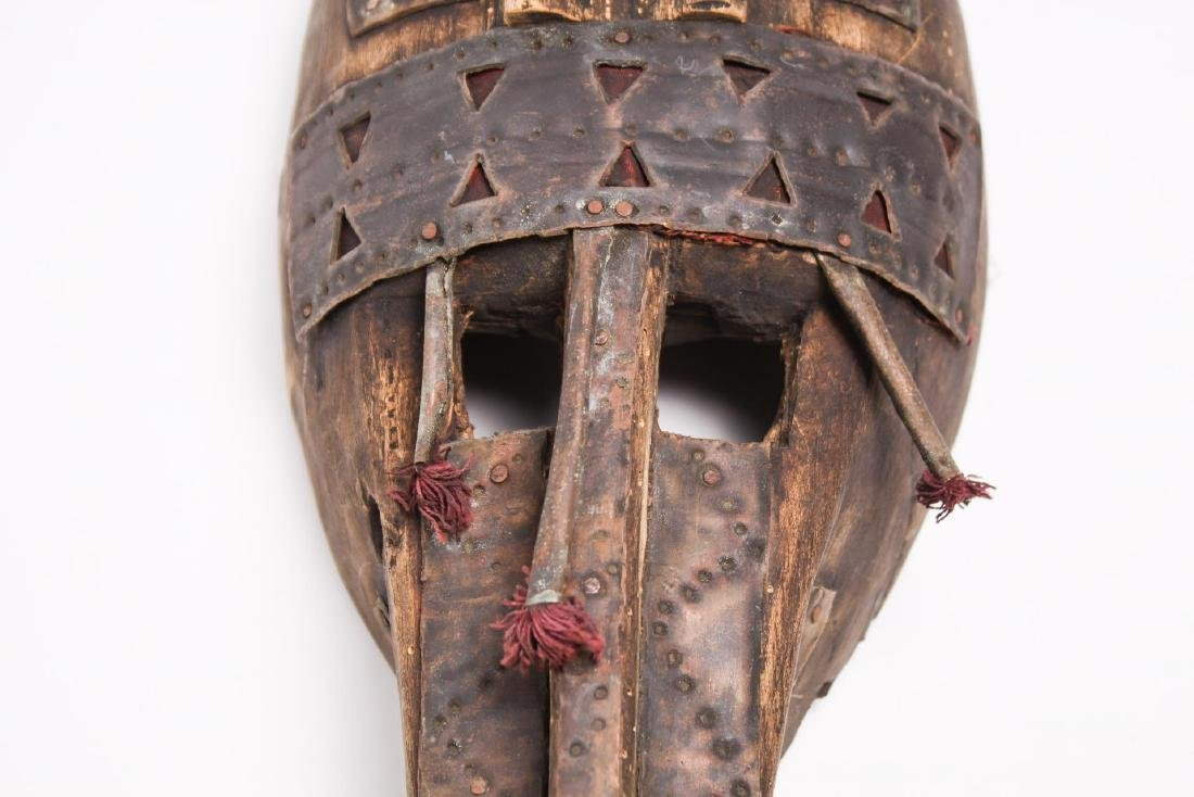 African Mask, Marka People, Mali, Wood & Metal - 2