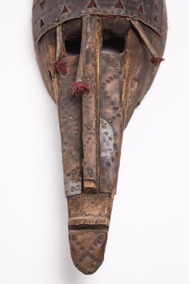 African Mask, Marka People, Mali, Wood & Metal - 5