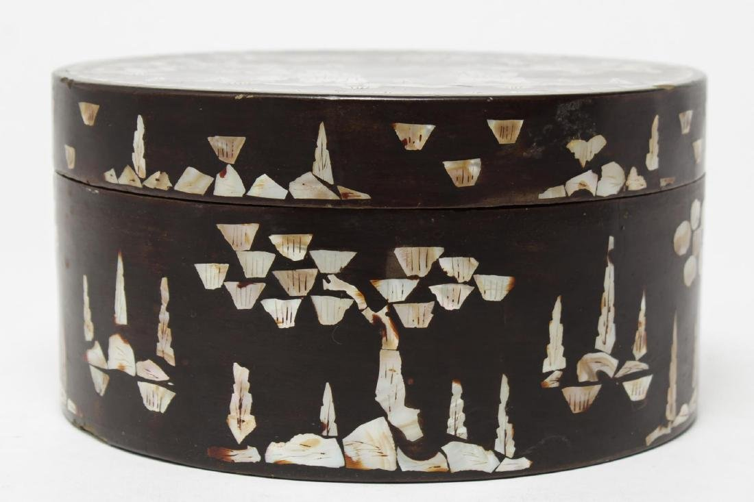 Chinese Lacquer & Mother-of-Pearl Inlaid Cake Box - 2