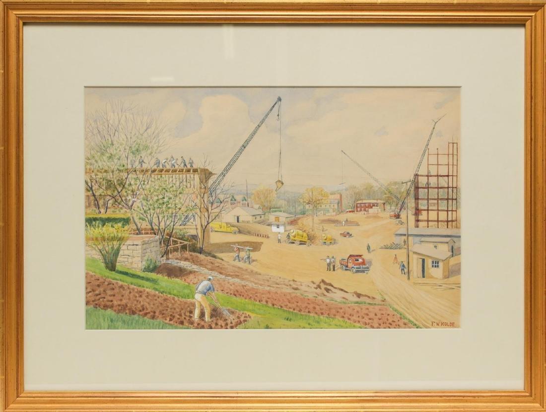 Frederick Kolde (American, 1870-1957)- Watercolor
