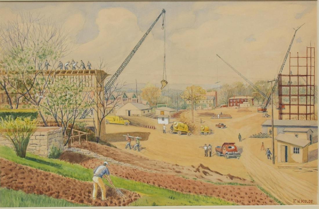 Frederick Kolde (American, 1870-1957)- Watercolor - 2
