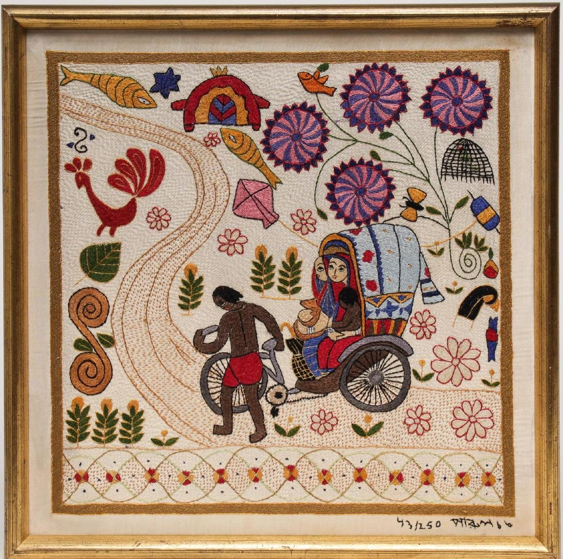 Indian Ethnographic Tribal Embroidery Panel