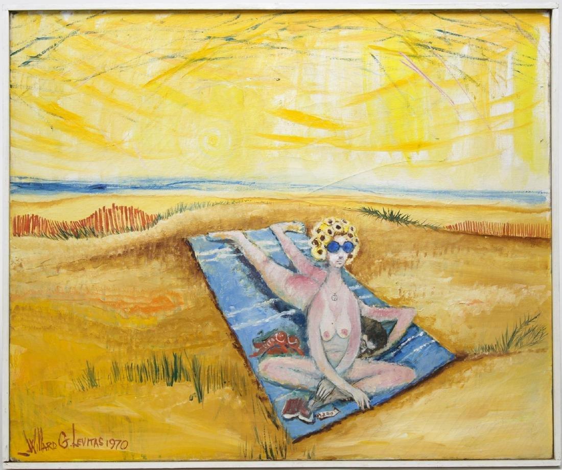 Willard Levitas (American, 1921-2001)- Oil