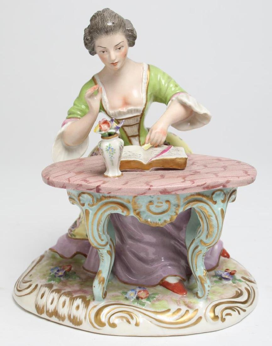 Samson Continental Porcelain Seated Lady, 19th C