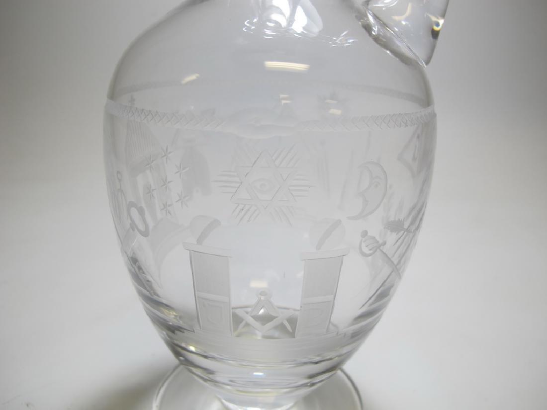 Antique Masonic Chomette Domberger claret jug - 4