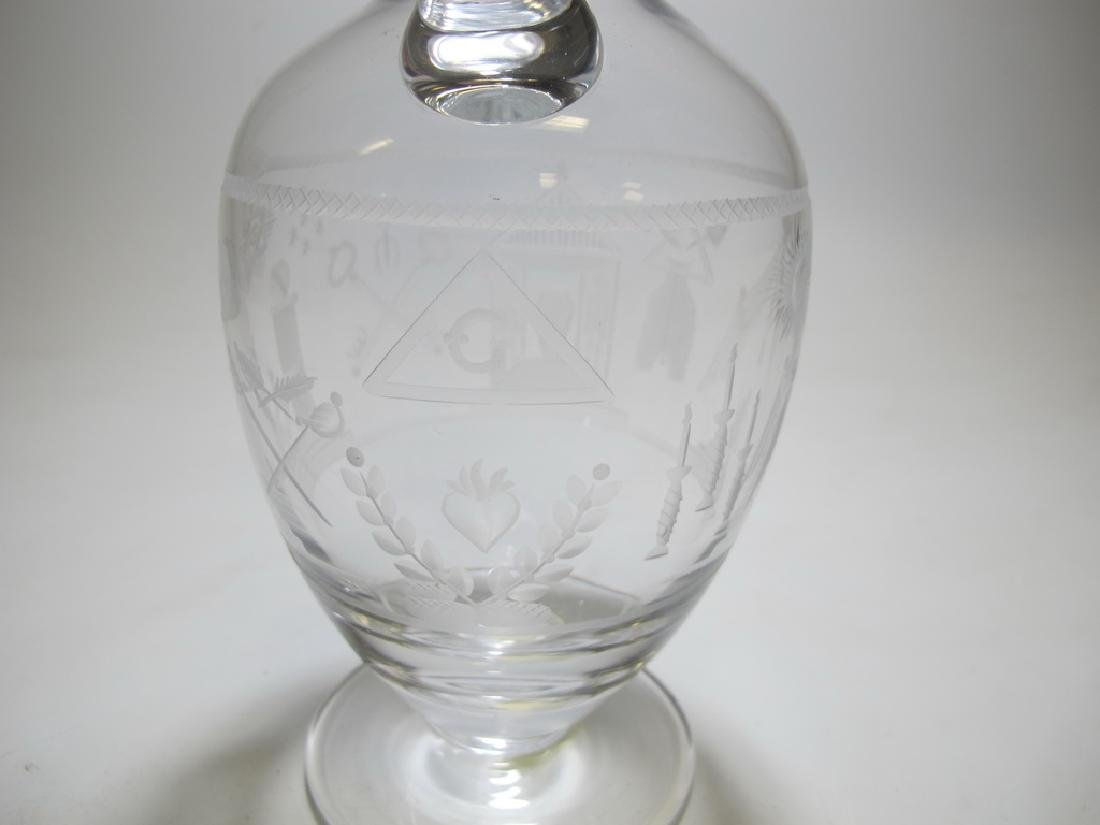 Antique Masonic Chomette Domberger claret jug - 5