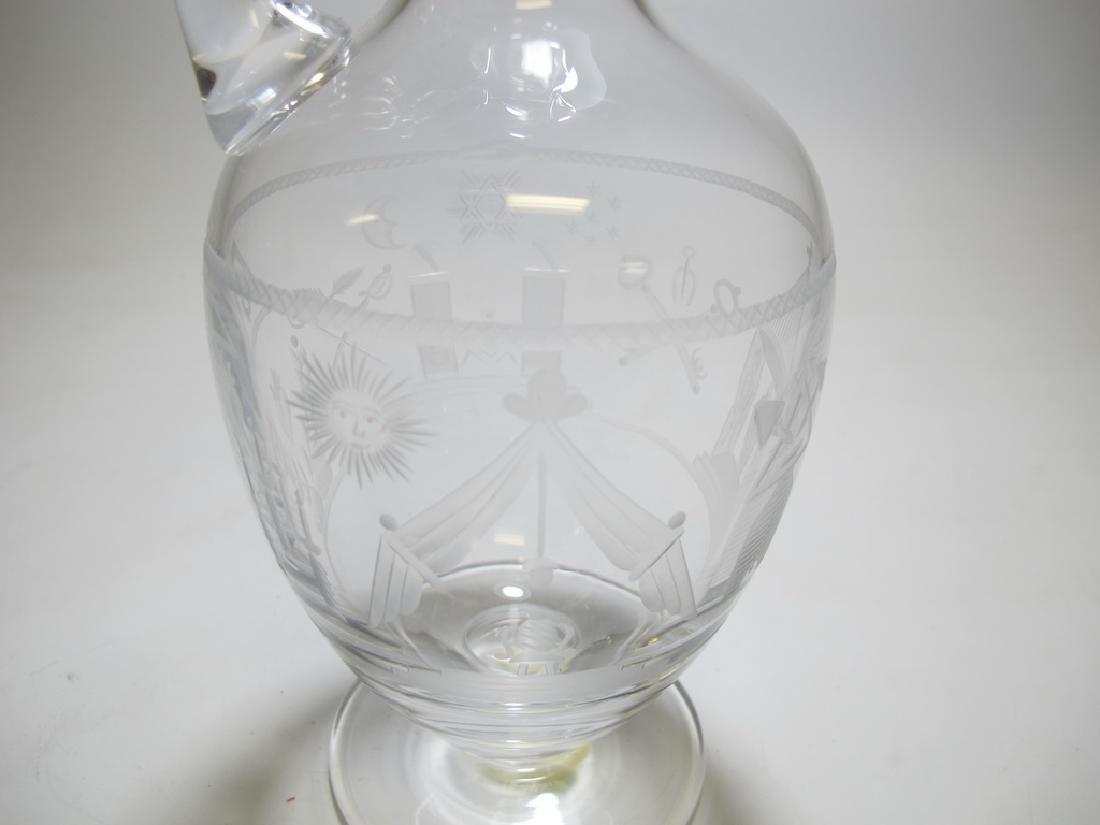 Antique Masonic Chomette Domberger claret jug - 6