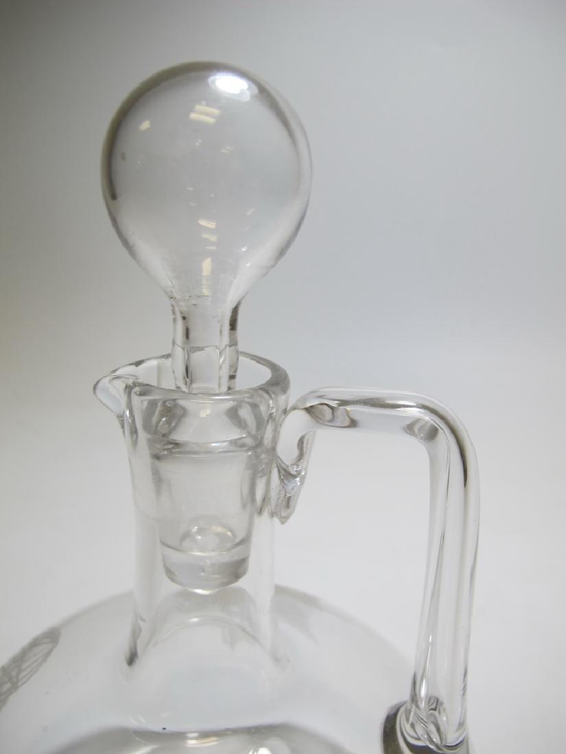Vintage Masonic glass decanter - 4