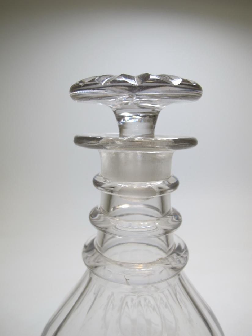 19th C Masonic glass decanter - 3