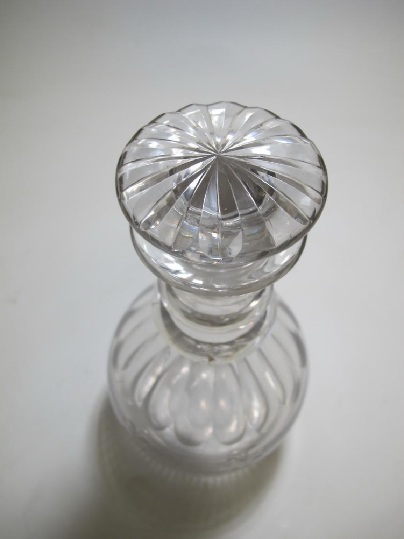 19th C Masonic glass decanter - 4