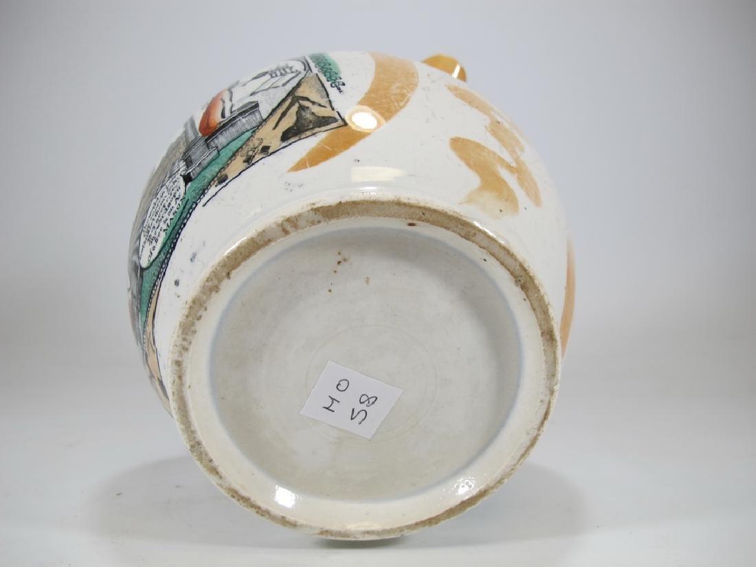 Antique masonic Orange Luster jug - 6