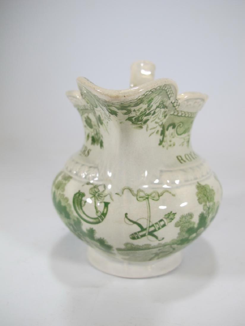 Antique English Masonic glazed pottery milk jug - 6