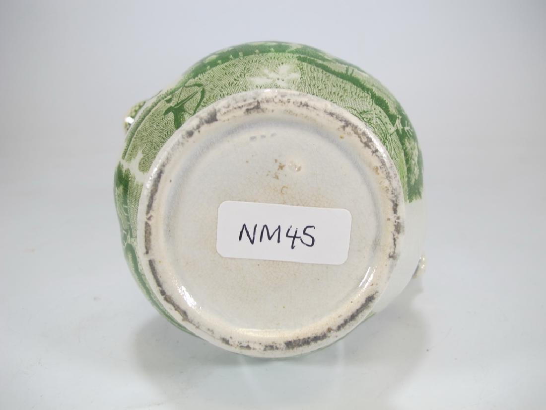Antique English Masonic glazed pottery milk jug - 7