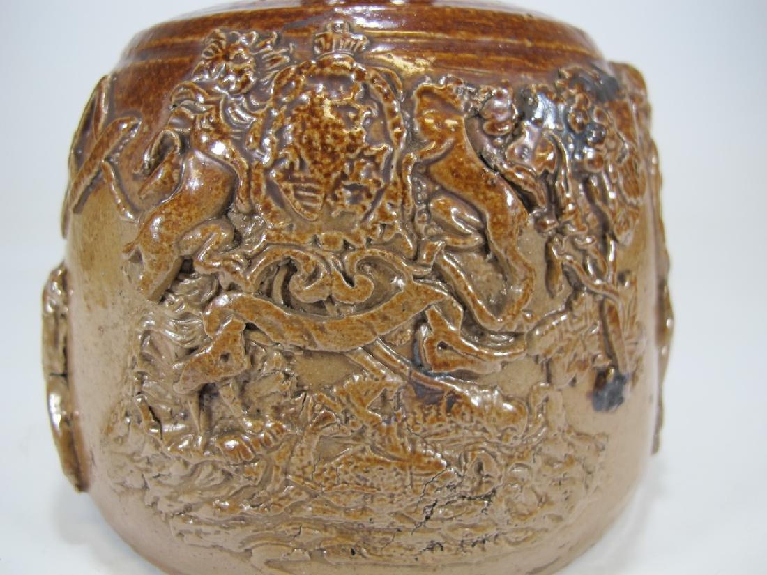Antiquel Masonic salt glazed stoneware decante - 2