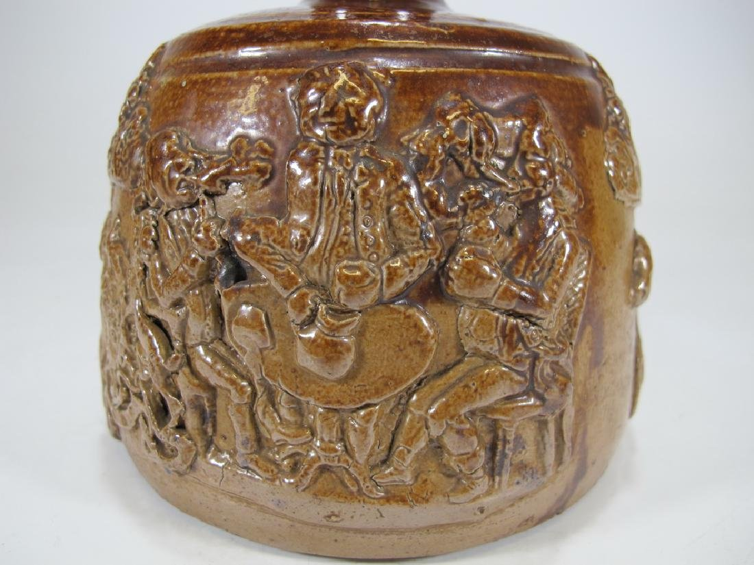 Antiquel Masonic salt glazed stoneware decante - 4