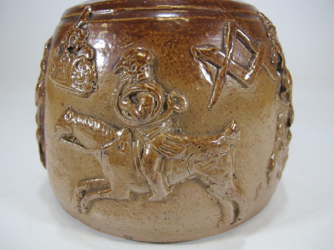 Antiquel Masonic salt glazed stoneware decante - 5