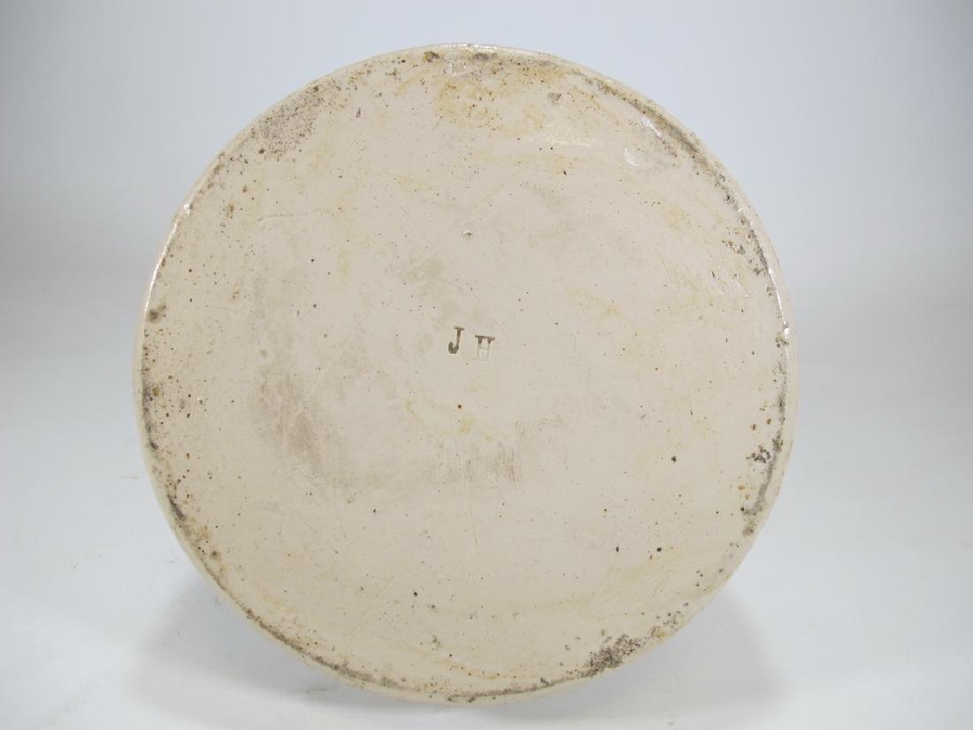 Antique masonic stoneware decanter - 8