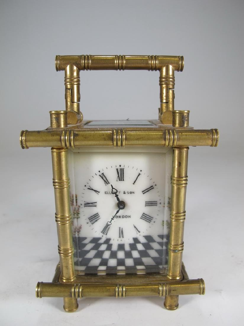 Antique Masonic Elliott & Son, London travel clock