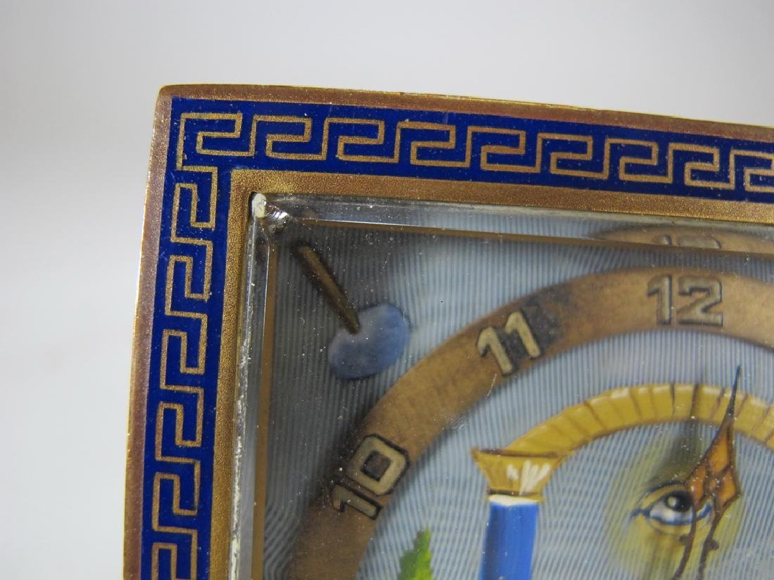 Antique Masonic German KIENZLE table clock - 2