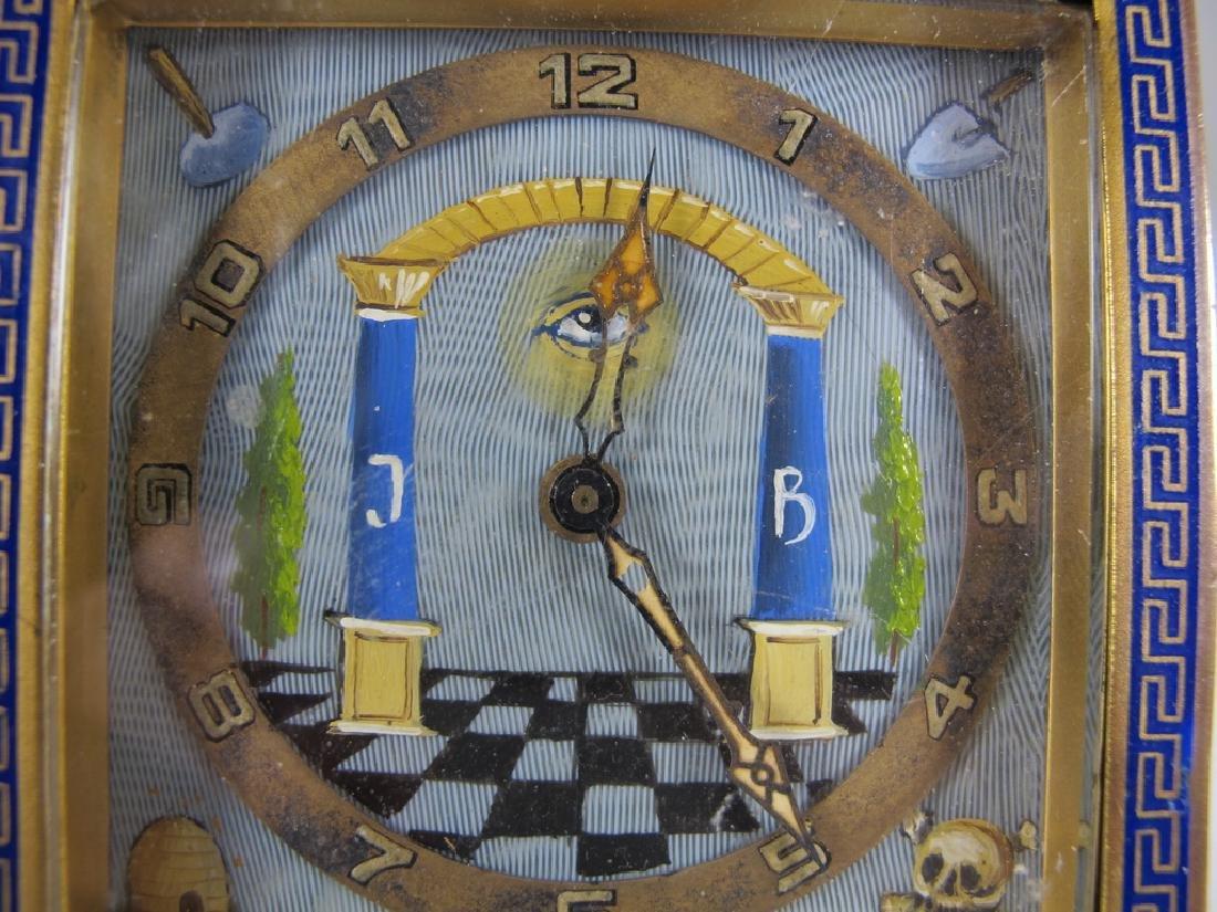 Antique Masonic German KIENZLE table clock - 5