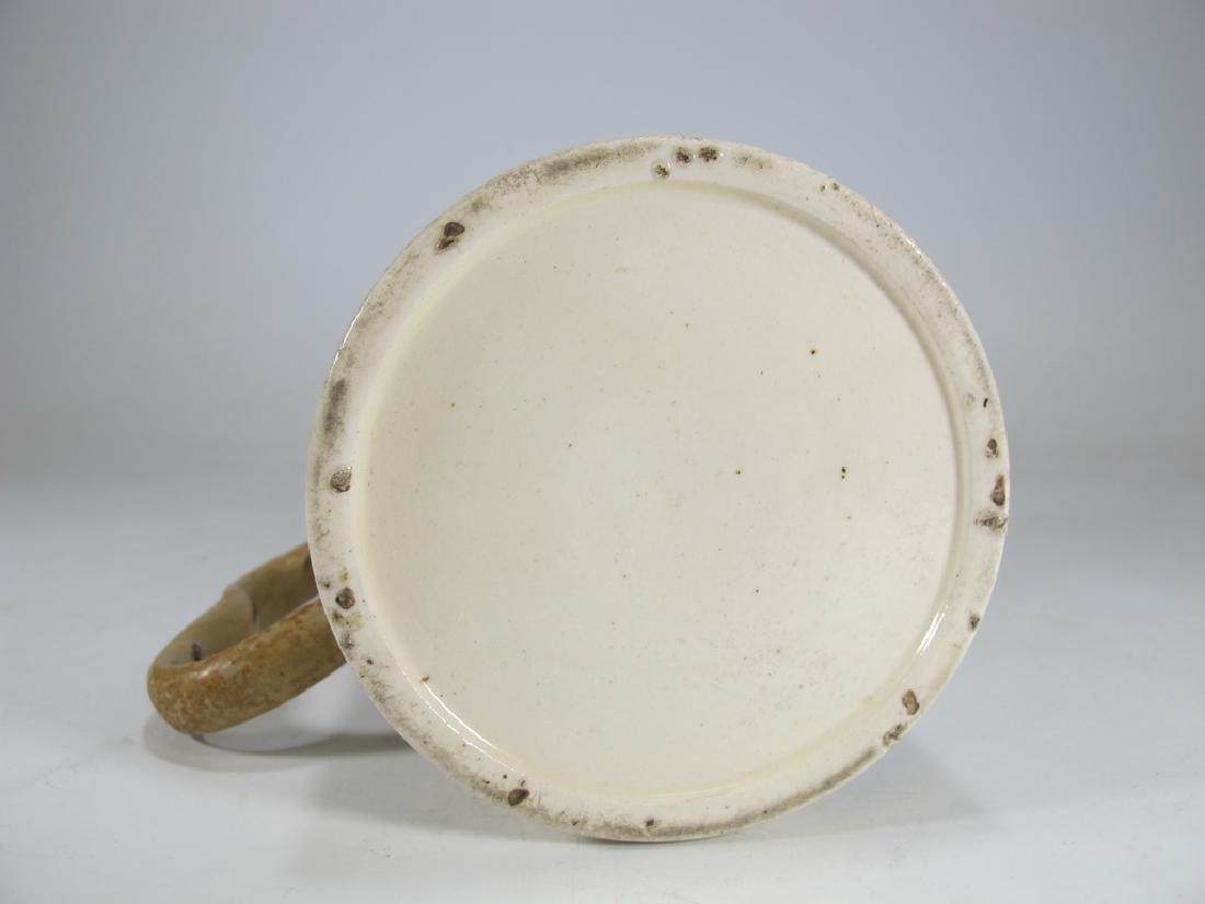 Antique Masonic cream ware frog/lizard/tadpole mug - 7