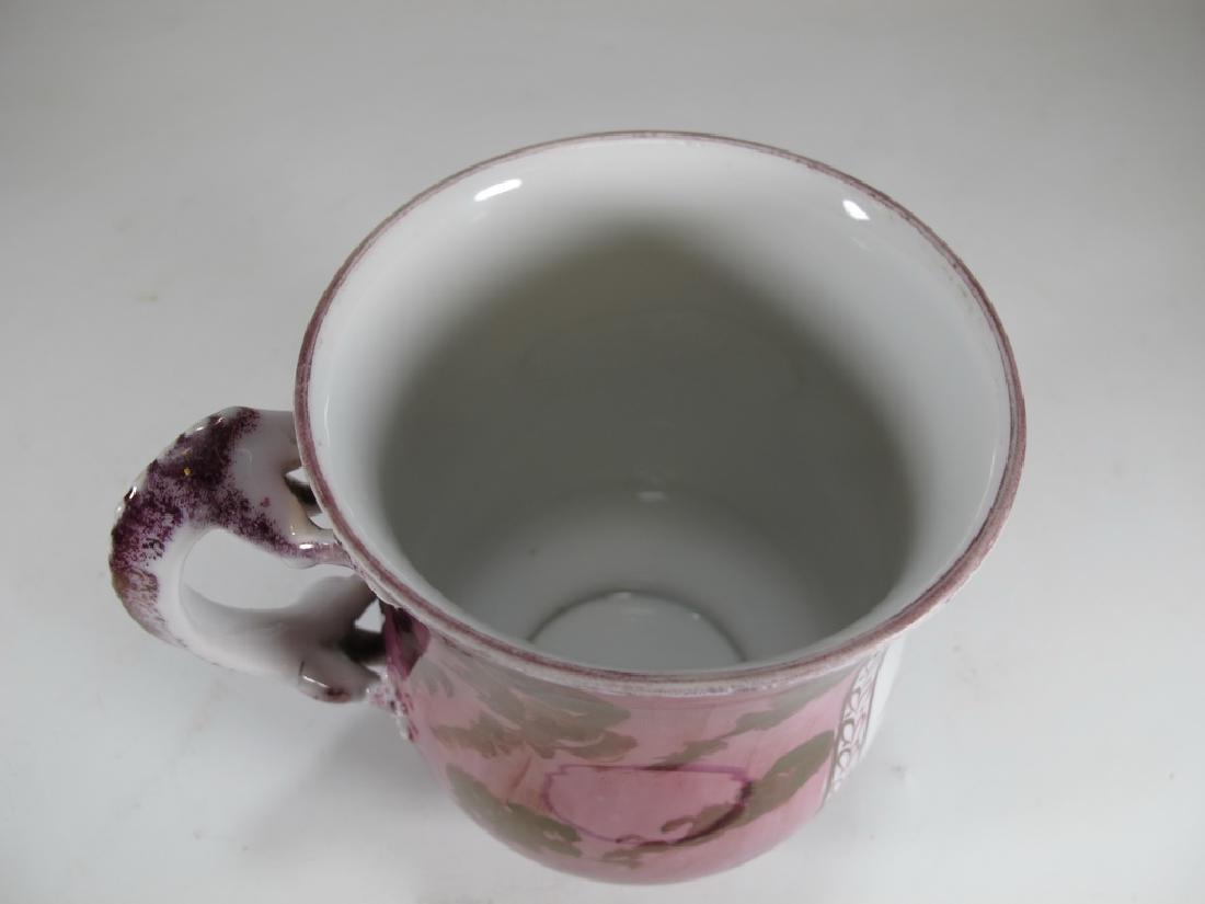 French Masonic luster mug with lizard handle - 5