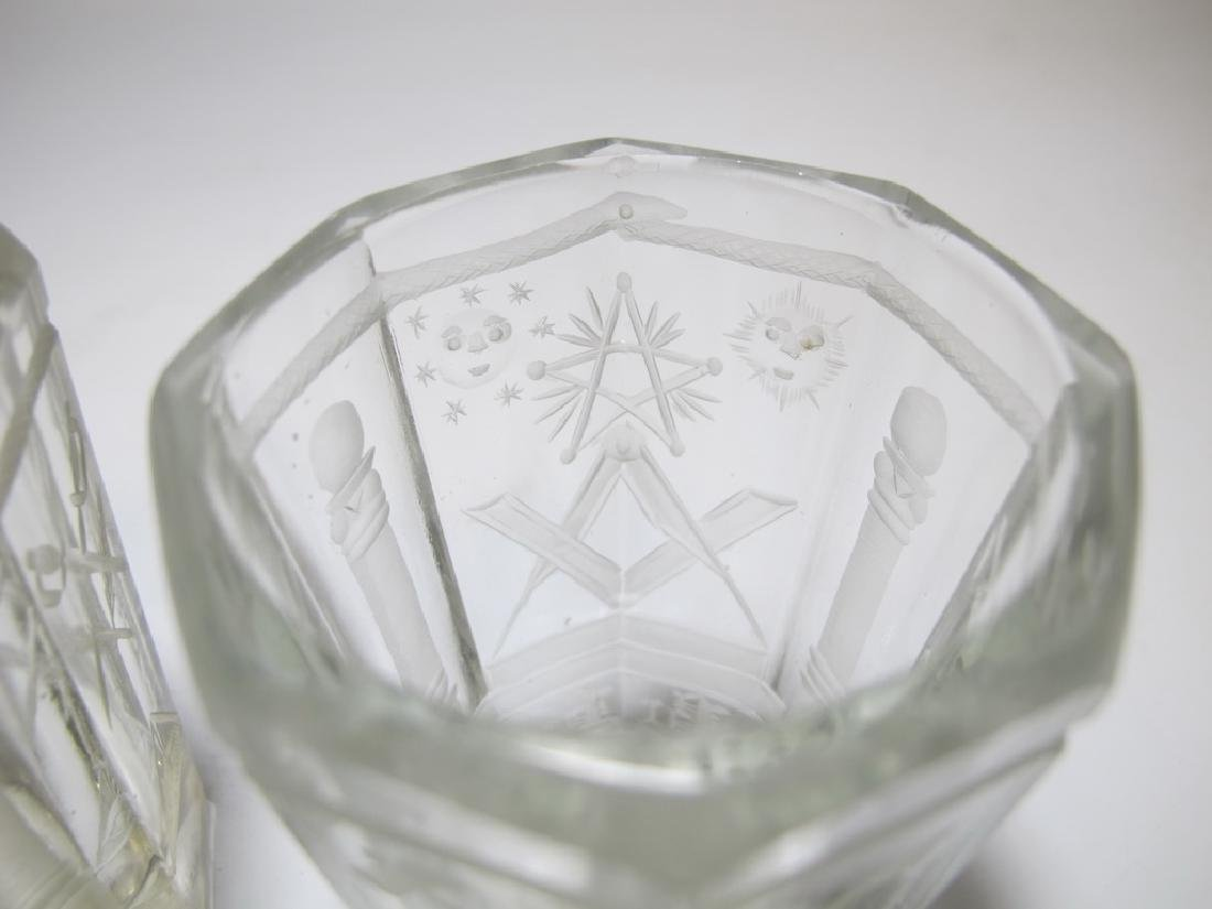 Pair of Masonic firing glass tumblers - 3