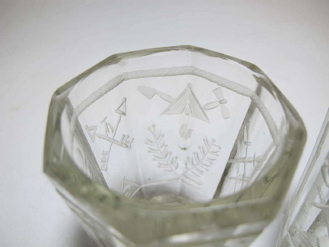 Pair of Masonic firing glass tumblers - 4