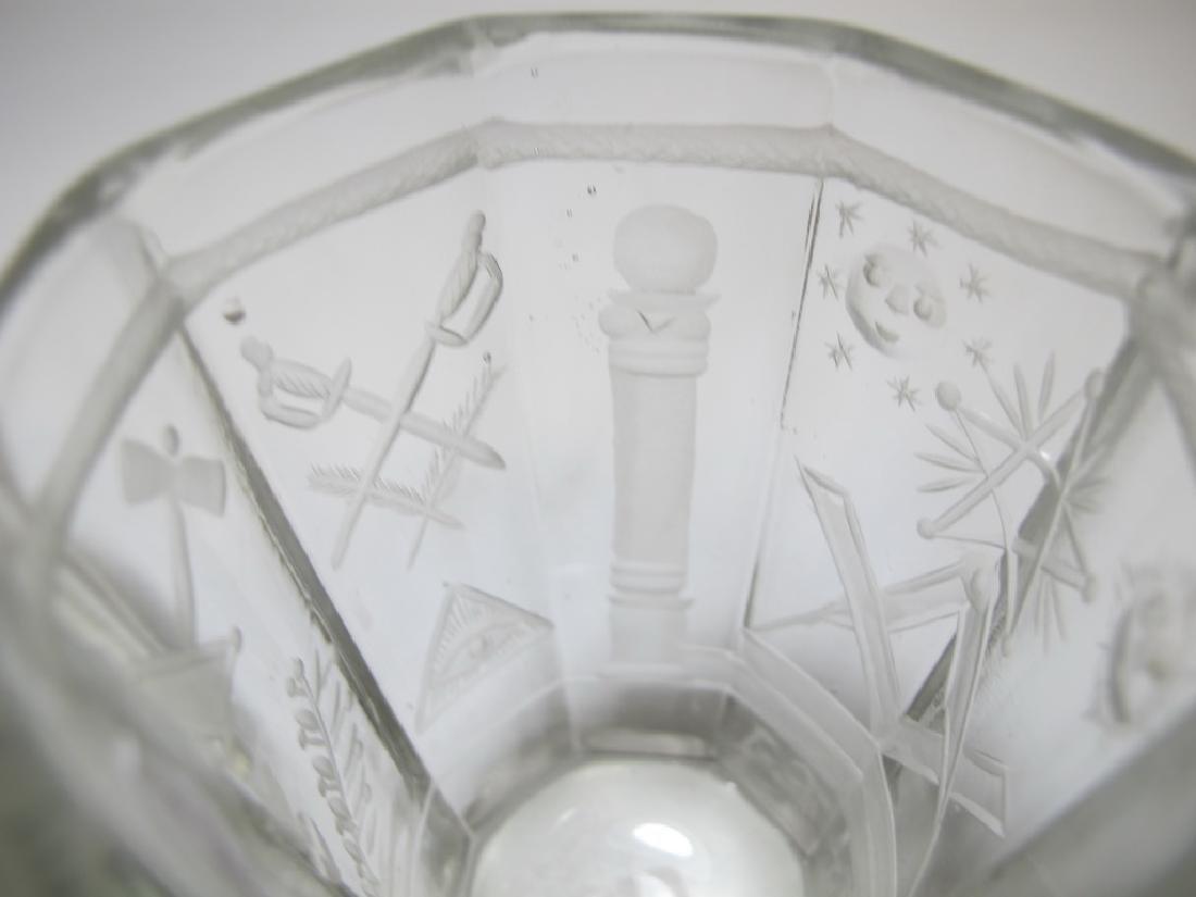 Pair of Masonic firing glass tumblers - 7