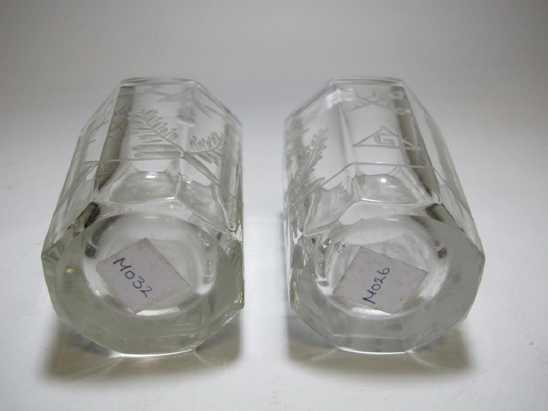 Pair of Masonic firing glass tumblers - 8