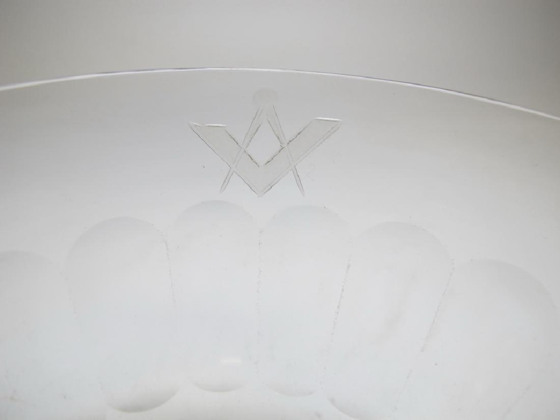 Victorian Masonic glass bowl - 10